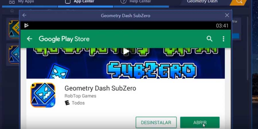 abrir Geometry Dash SubZero Para Pc